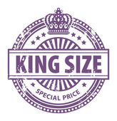 King Size stamp — Stock Vector