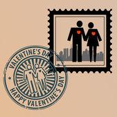 Valentine den razítka — Stock vektor