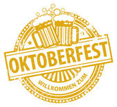 Oktoberfest stamp — Stock Vector