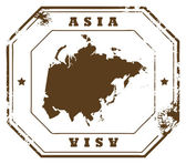 Asia stamp — Stock Vector