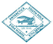 Antarctica, South Pole stamp — Vetor de Stock