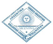 Argentina stamp — Stock Vector