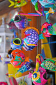 Face ceramic fish in Cozumel - Mexico — Stock Photo
