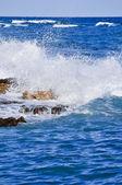 Heavy sea and sea foam — Stock Photo