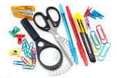 Assortment of stationery — Stock Photo