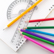 Assortment of stationery - Stock Photo
