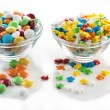 Many colourful halloween candy filling — Stock Photo