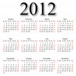 Great calendar for 2012 — Stock Photo