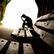 Depression, teen depression, tunnel, young — Stock Photo