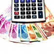 Royalty-Free Stock Photo: Turkish money, calculator