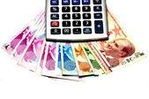 Turkish money, calculator — Stock Photo