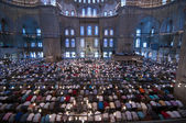 Muslim Friday prayer, blue mosque Turkey — Stock Photo