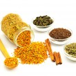 Stock Photo: Bee Pollen and flavoring