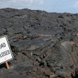 Road Closed - lava field (Big Island, Hawaii) — Stock Photo #10818683