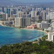 Beach of Waikiki (Honolulu, Hawaii) - Stock Photo