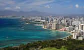 Stranden i waikiki (honolulu, hawaii) 02 — Stockfoto