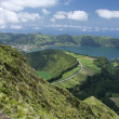 Viewpoint over Sete Cidades  at Sao Miguel, Azores — Stock Photo