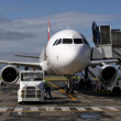 Stock Photo: Preflight-check of small Airliner