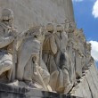 Relief at the Monument to the Discoveries in Lisbon - Stock Photo