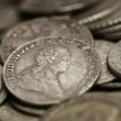 Antique coins of close-up 01 — Stock Photo
