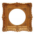 Royalty-Free Stock Photo: Weathered golden picture frame 06