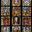 Colorful window of the St. Thomas Church, Leipzig (Germany) — Stock Photo