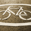 Cycle track - Sign - Stock Photo