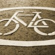 Cycle track - Sign — Stock Photo