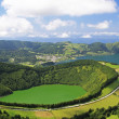 Volcanic Crater of Sete Cidades (Sao Miguel, Azores) - Stock Photo