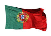 Flagge von portugal isoliert — Stockfoto