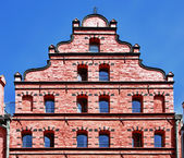 Front of an old house (Stralsund, Germany) — Stock Photo