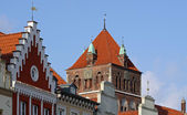 Old houses at the market-place in Greifswald 02 — Stock Photo