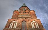 Cattedrale di st. nikolai a greifswald (mecklenburg-vorpommern, germania) — Foto Stock