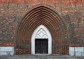 Cathedral st. nikolai içinde greifswald girişi — Foto de Stock