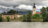Göttweig Abbey at river Danube (Wachau, Lower Austria) — 图库照片