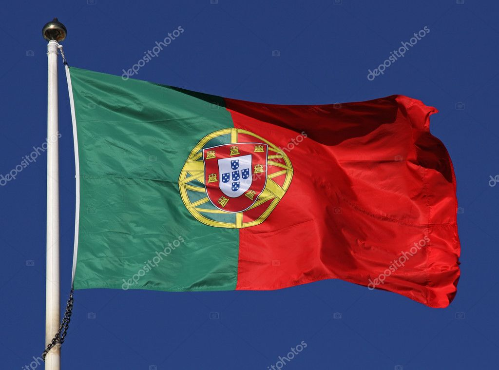 Flag of portugal in the sunlight — Stock Photo #10822185