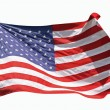 Royalty-Free Stock Photo: Flag of the United States of America, isolated on white background