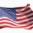 Flag of the United States of America, isolated on white background — Stock Photo
