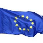 Flag of the EU, isolated on white background — Stock Photo