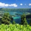 Viewpoint at Sao Miguel (Azores islands) - Stock Photo