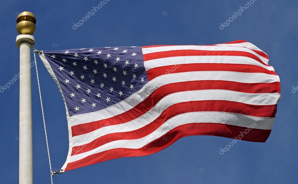 Flag of the United States of America in the sun — Stock Photo #10856696