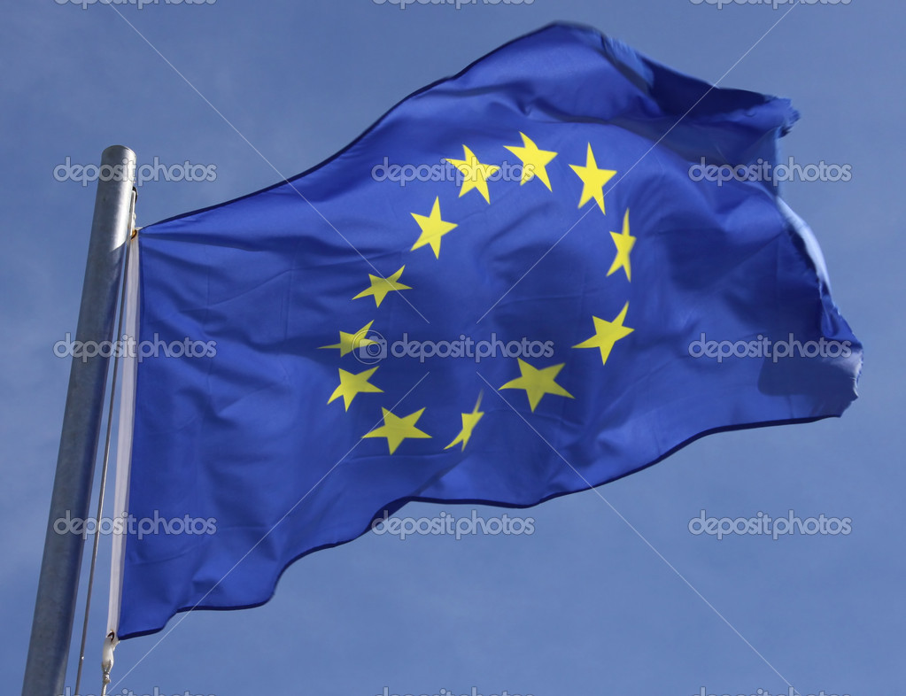 Flag of the European Union in the sun  Stock Photo #10857612