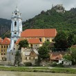 Old Abby of Drnstein at river Danube - Stock Photo