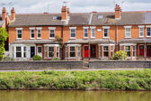 River with houses — Stock Photo