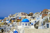 Amazing white houses of Santorini — 图库照片