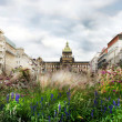 Wenceslas square in the summer, Prague — Stock Photo