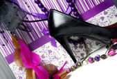 Big shopping - luxury glamour accessories — Stock Photo