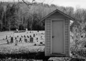 Wooden Shed In Graveyard — Stock Photo
