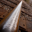 Railroad Track Close Up Angle — Stock Photo