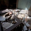 Stock Photo: Trashed Room In Sunlight